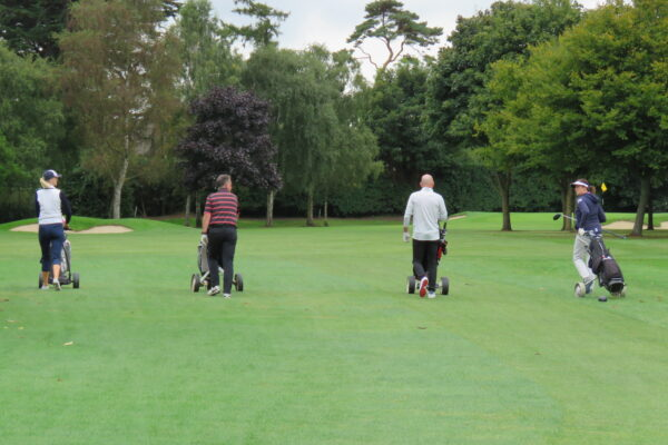 Team The Panel heading towards the 2nd hole
